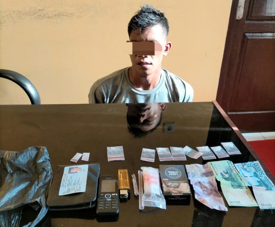 Hendak Mau Transaksi Narkotika, Warga Tumang Diamankan Personil Polsek Sungai Mandau.