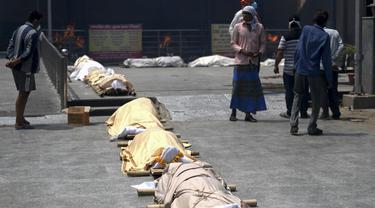 New Delhi Kremasi 600 Lebih Jenazah Pasien COVID-19 dalam Sehari