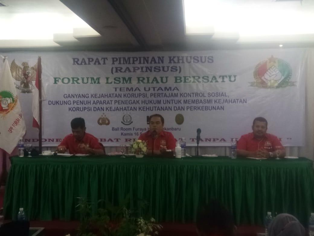 Forum LSM Riau Bersatu Rapat Pimpinan Khusus,Ini Yang di Bahas