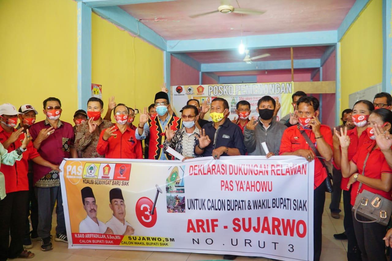 Relawan PAS YAAHOWU Dikukuhkan Dan Deklarasi Dukungan Kemenangan Pasalon Arif & Sujarwo