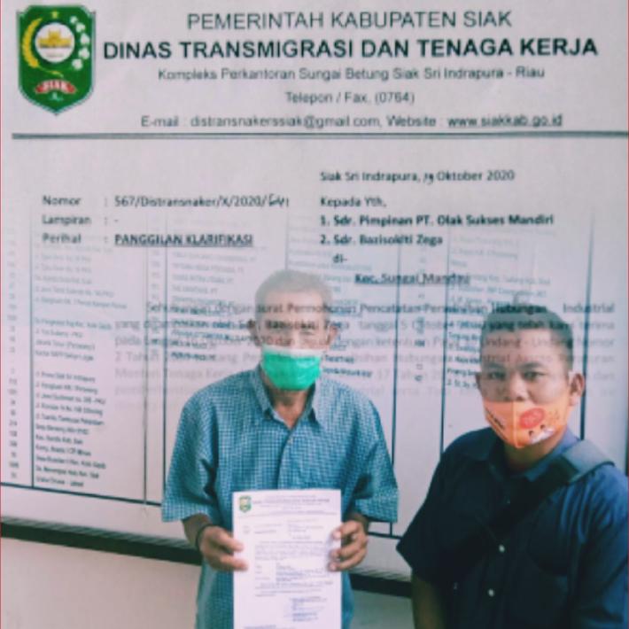 KR Dan PT. OSM Subkon RAPP Estate Mandau, Tak Hiraukan Panggilan Disnaker Siak.