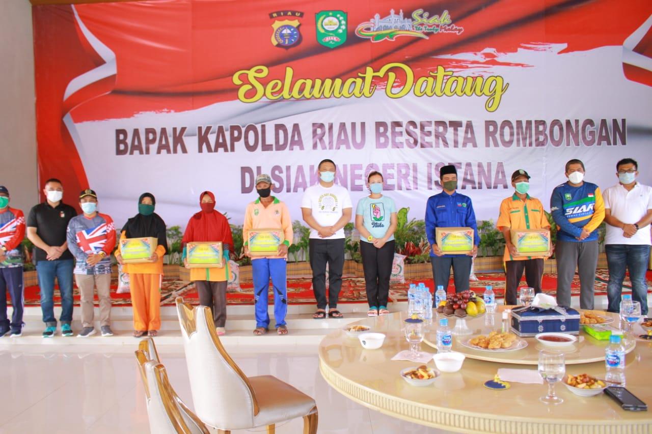 Bupati Siak Alfedri Sambut Kunjugan Kapolda Riau Beserta Rombongan