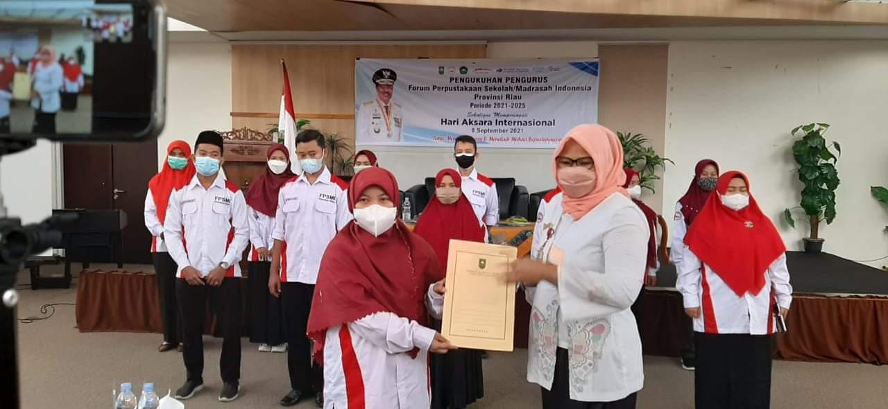 Bertepatan Dengan Hari Aksara Internasional,PD FPSMI Riau di Kukuhkan
