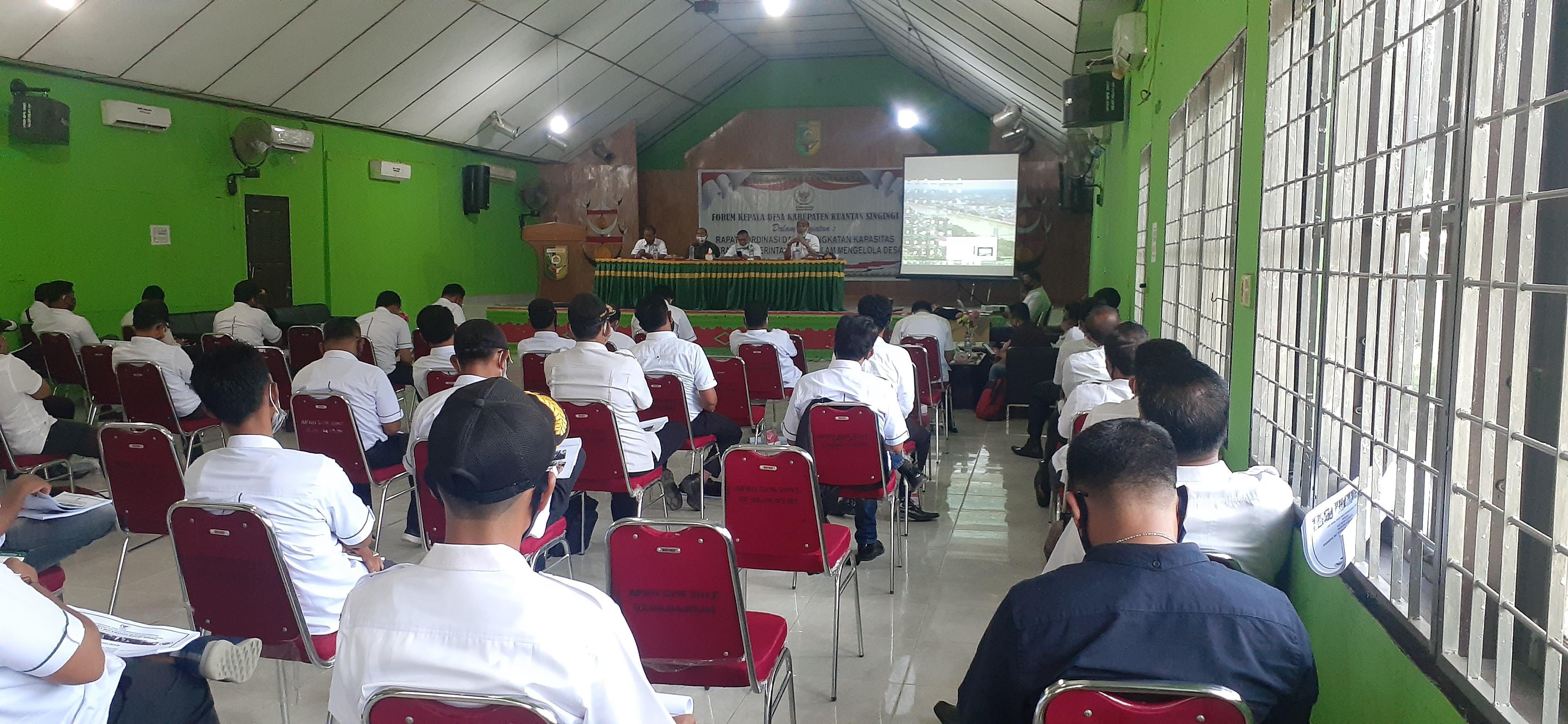 Forum Kades Kuansing, Gelar Rakor Permen PDTT Nomor 13 Tahun 2020