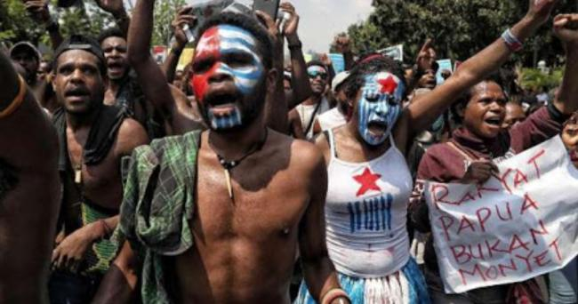 Masyarakat papua Demo Terkait Pemadaman Akses Internet di Papua