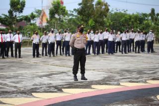 5 Jajaran Polres lakukan Apel Konsolidasi  Kesiapan PSBB