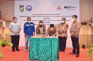 Melaui PT. BKSE, Pemkab Kampar Tandatangani MoU PLTMG Kapasitas 15 MW Senilai Rp. 320 Milyar
