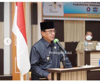Bupati Inhil HM.Wardan Membuka Bimtek Pilkades Serentak TH 2021.