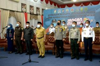 Pejabat di Kampar Kompak Bacakan Deklarasi Peniadaan Mudik
