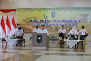 Asisten I Setdaprov Riau Hadiri Rakor Pemantapan Pelaksanaan Pelantikan Bupati/Wali Kota Pilkada 202