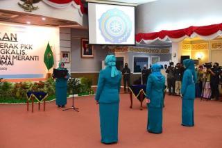Ketua TP PKK Riau Lantik Ketua TP PKK Dumai, Bengkalis, dan Meranti