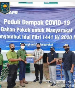 RAPP Estate Mandau Salurkan Paket Sembako Kepada Pemerintah Kecamatan Sei Mandau