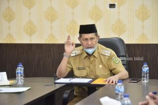Wabup Inhil H.Syamsuddin Uti, terima kunjungan FKUB Inhil : Mari Jaga Persatuan Umat Beragama.