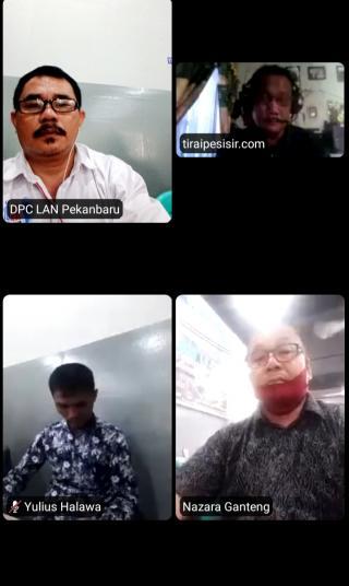 Persiapan Rakorwil , DPW MOI Riau Lakukan  Zoom Meeting