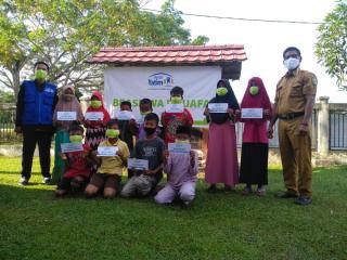 Alhamdulillah, Anak-anak di Dosan Riau Terima Bantuan Pendidikan