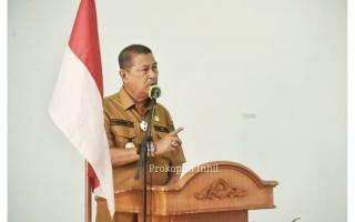 Wabup H. Syamsuddin Uti Membuka Pelatihan BUMDes se-Kabupaten Inhil