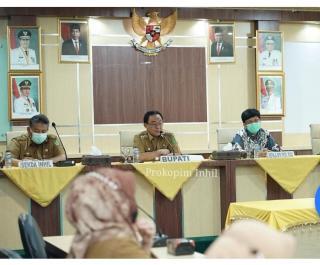 Bupati Inhil HM.Wardan Rapat Exit Meeting bersama BPK RI.