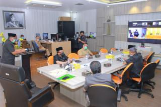 Bupati Siak Alfedri sampaikan Laporan Keterangan LKPj Kepala Daerah Tahun 2020 pada Rapat Paripurn
