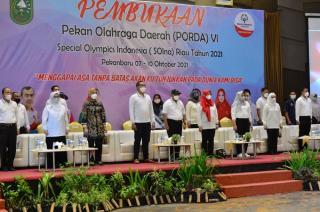 Wakil Gubernur Riau Resmi Buka Porda ke-6 SOIna 2021