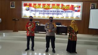 Kapolres Kuansing Buka Acara Forum Group Diskusi Bersaman KPU dan Tokoh Masyarakat