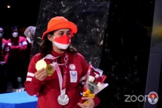 Leani Ratri Tiba di Tanah Air, Menpora Bangga Tim Paralimpiade Tokyo Ukir Prestasi