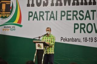 Hadiri Muswil DPP PPP Riau, Gubri: Tetap Jaga Kultur Bangsa Indonesia