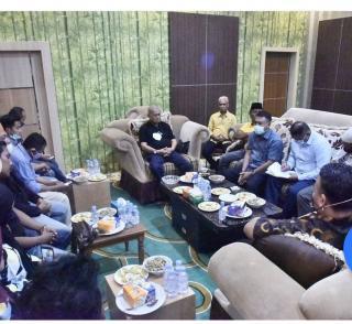 Pasca Penertiban Pasar Yos Sudarso, Wabup Inhil H.Syamsuddin Uti Kumpulkan Pedagang di Rumah Dinas