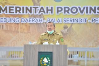 Rakor Bersama Menteri PPN/Bappenas, Gubri Harapkan Dukungan Infrastruktur di Riau
