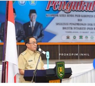 Bupati Inhil, Drs HM Wardan MP Hadiri Pengukuhan Pokja Bunda PAUD