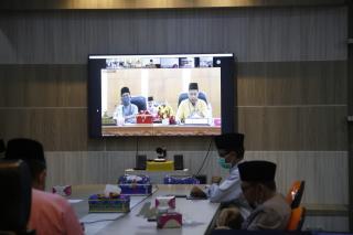 Progress PSBB Siak Sesuai Harapan, Bupati Usulkan Pemberlakuan New Normal Kepada Gubernur Riau.