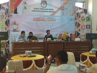 KPU Kuansing Gelar Sosialisasi Penerapan Protokol Kesehatan.