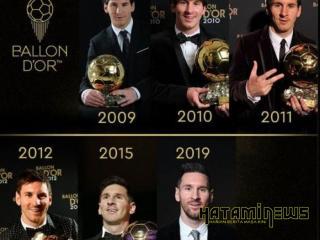 Messi Raih Trofi Pemain Terbaik Dunia Kali ke-6