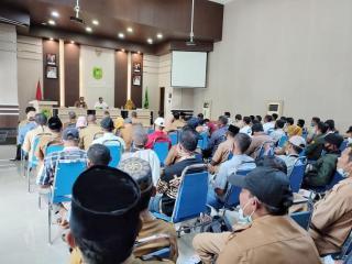 Bupati H.M Adil Pimpin Rakor Peningkatan Produksi Pertanian dan Perbaikan Tanggul Sawah