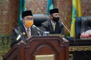 Pemprov Riau Sampaikan LHP BPK RI Dalam Rapat Paripurna Bersama DPRD Riau