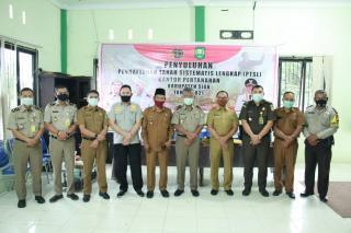 Asisten 1 bersama Kepala BPN Kab Siak berikan Penyuluhan PTSL di Dua Kampung Kec Tualang