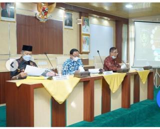 Triwulan ke-2, Bupati dan Wakil Bupati Pimpin Rapat Evaluasi Keuangan TH 2021.