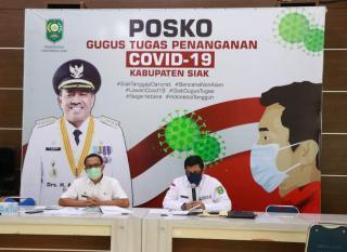 Gugus Tugas Kabupaten Siak Konpers Update Info Penangananan Covid 19 di Kabupaten Siak.