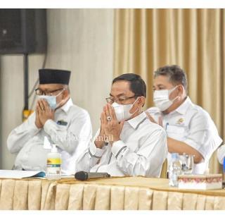 Bupati Inhil HM.Wardan Menghadiri Rakoor Dengan Wilayah I Koordinasi & Supervisi KPK RI.