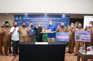 XL Peduli, Bagikan Kuota Internet 30 GB ke 60 Ribu Pelajar Bersama Disdik Riau