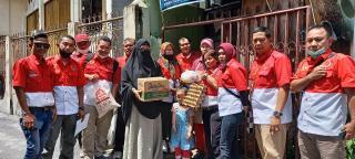 Sambut Ramadhan, Pengurus DPD PWRI Riau Berbagi Sembako