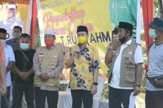 Gubernur Riau Saksikan Penyembelihan Sapi Kurban Presiden Joko Widodo