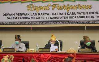 DPRD Inhil Gelar Rapat Paripurna Istimewa Milad Inhil ke 56, Ini Sambutan Ketua DPRD