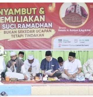 Istighosah dan Tabligh Akbar Sambut Ramadhan 1442 H, Wabup SU Lantik Pejuang Subuh Keritang
