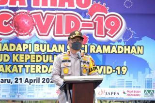 Polda Riau dan jajaran nya telah membagikan sebanyak 12.212 paket sembako