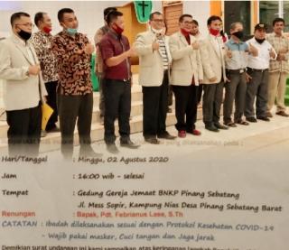 Pengkuhan Dan Pelantikan Muscab III HIMNI DPC Kabupaten SiaK Ikuti Protokol Kesehatan