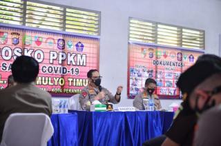Berkunjung ke Riau, Wakapolri Tinjau Pelaksanaan PPKM