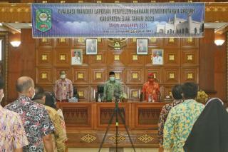 Wakil Bupati Husni Merza, Membuka Kegiatan Evaluasi Mandiri LPPD Kabupaten Siak Tahun 20200