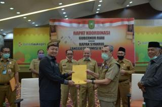 Bahas Pembangunan Infrastruktur, Pemprov Riau Rakor dengan Anggota Komisi V DPR RI