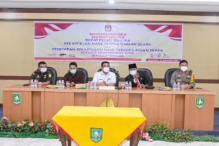 KPU Bengkalis Gelar Rapat Pleno Rekapitulasi Hasil Penghitungan Suara
