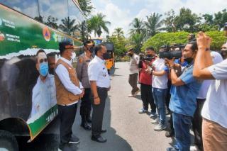 Antisipasi COVID-19, Pemkab Kampar Luncurkan 2 Armada Bus Vaksinasi Keliling